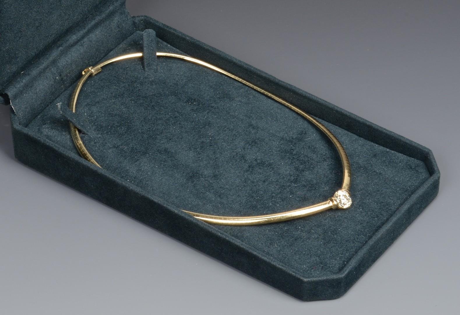 Lot 390: 14k 2.35 ct OMC diamond necklace