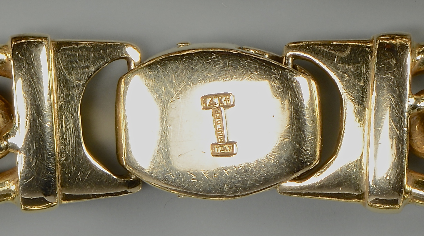 Lot 394: Two 14k bracelets, 42.4 grams