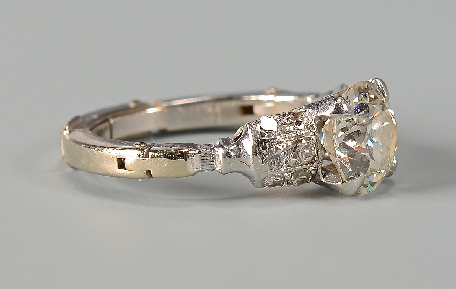 Lot 397 1 35 Carat Old Mine Cut Diamond Ring
