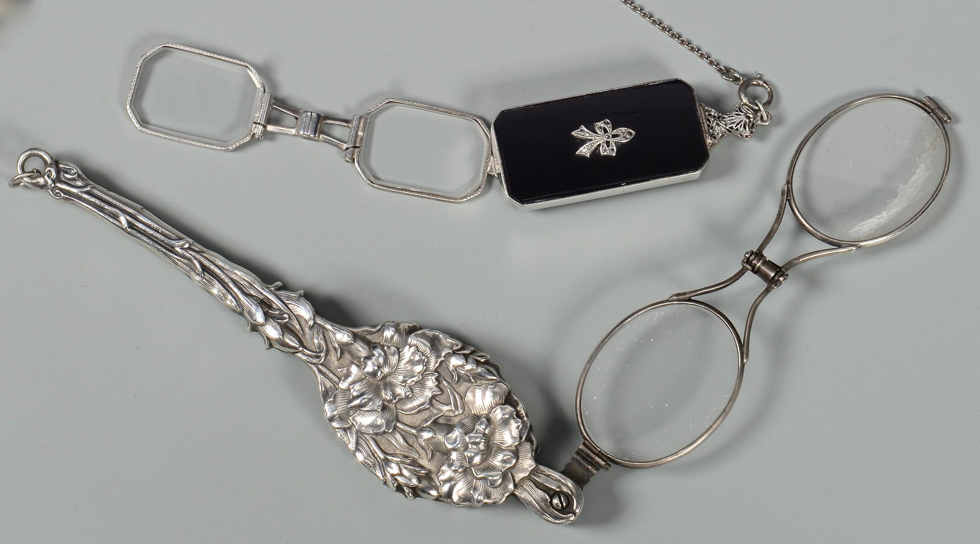 Lot 406: 4 Silver Lorgnettes