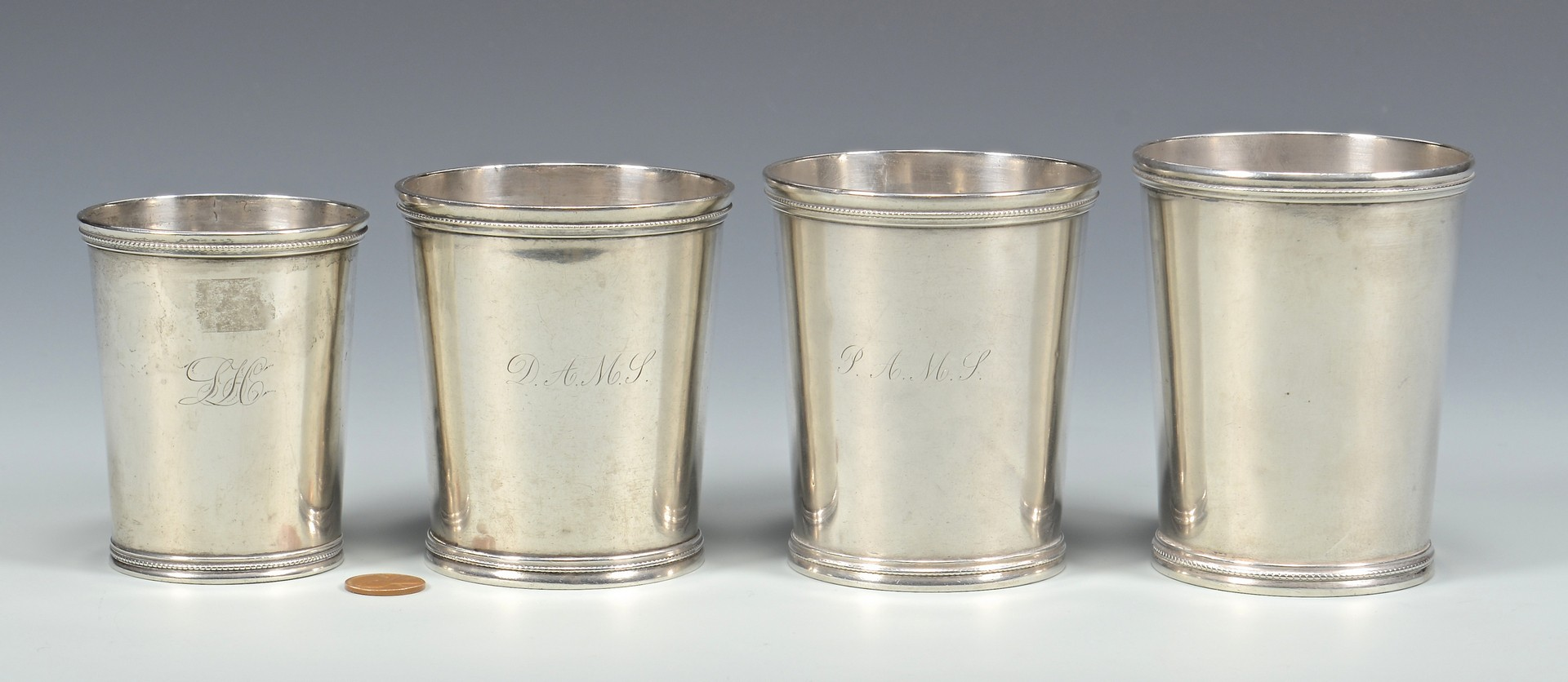 Lot 409: 4 Missouri Julep Cups inc. Agricultural