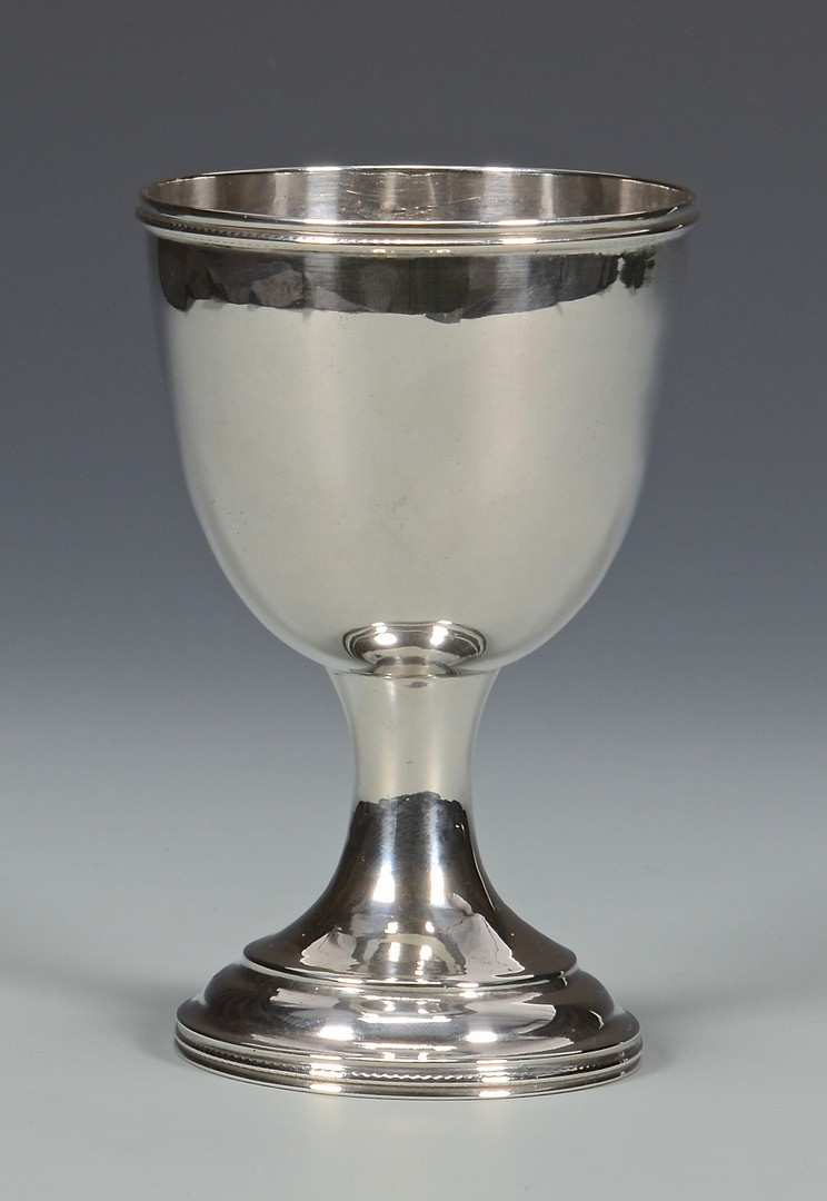 Lot 411: Jaccard MO Coin Silver Goblet, Ladle
