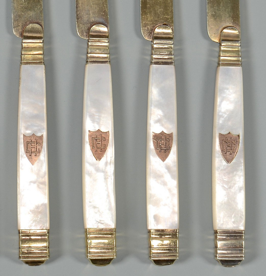 Lot 415: 10 French Silver-Gilt Knives ex-Cordell Hull