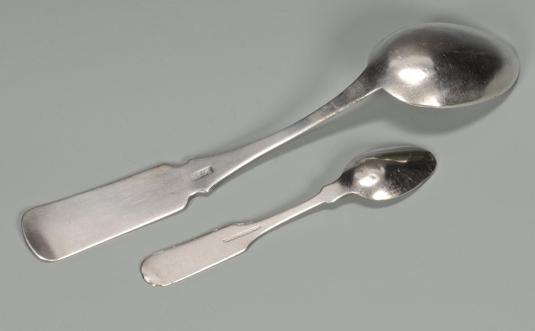 Lot 419: 2 Ringo TN Coin Silver Spoons