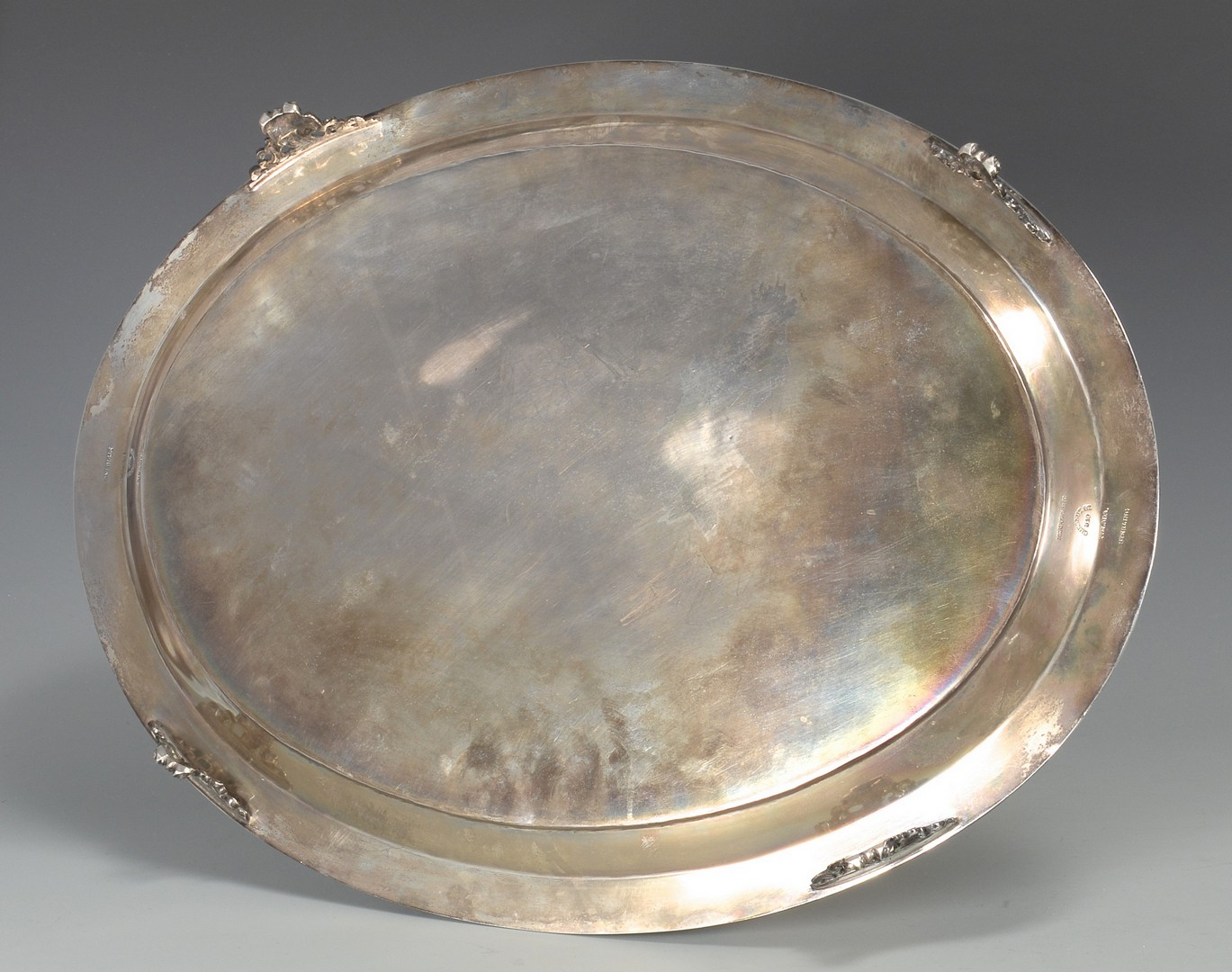 Lot 425: Sterling Tray with Greek Key Border