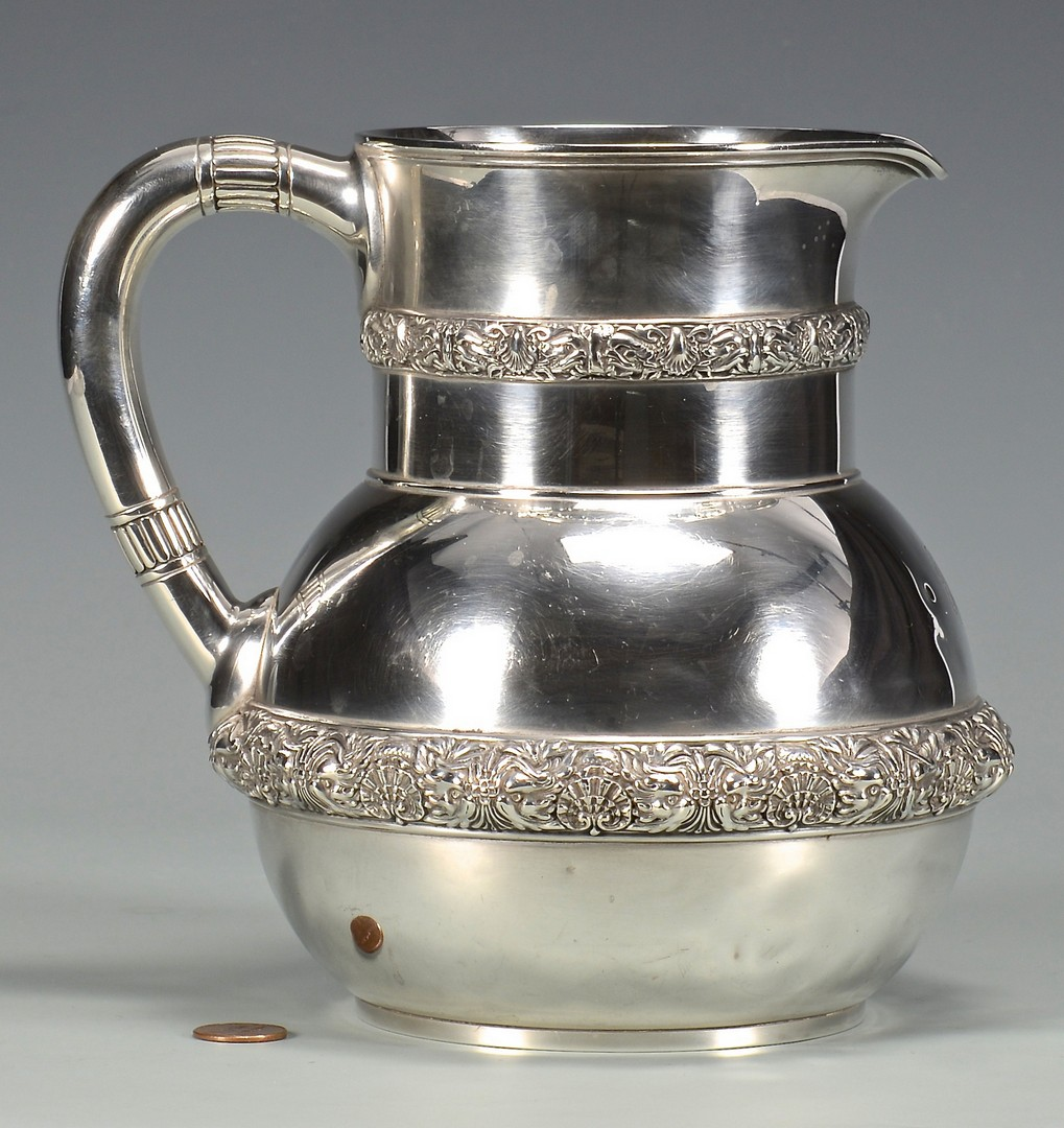 Lot 429: Tiffany Sterling Water Pitcher