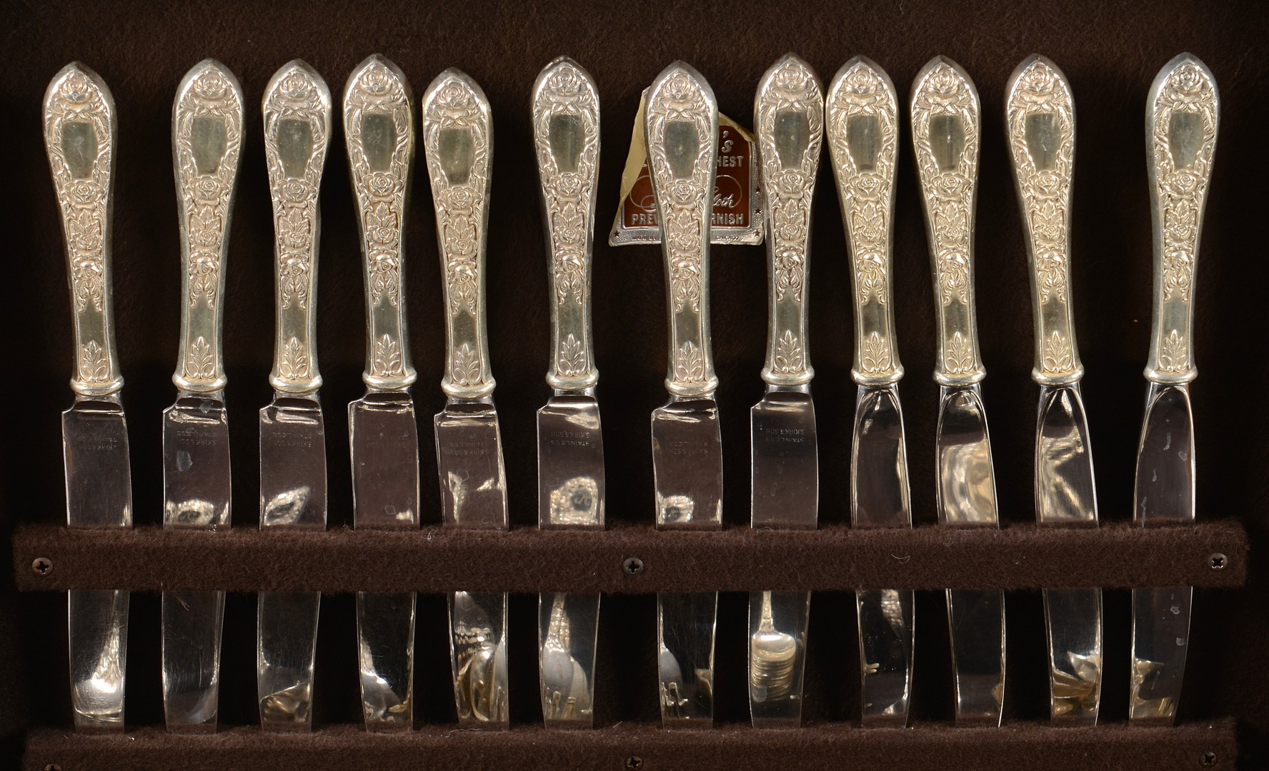 "Lot 432: 131 pc Kirk Sterling Flatware ""Rose"" pattern"