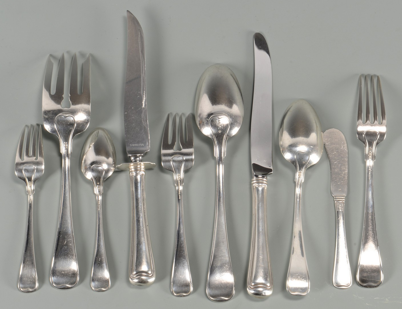 "Lot 433: Gorham ""Old French"" Sterling Flatware plus more"