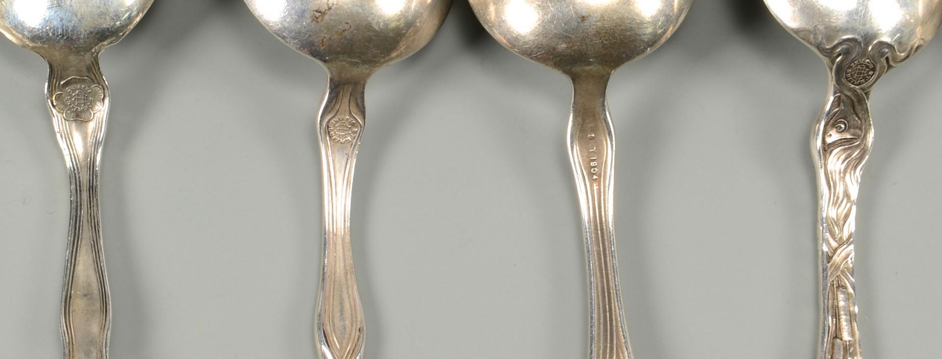 Lot 442: Art Nouveau Sterling Silver, incl Unger