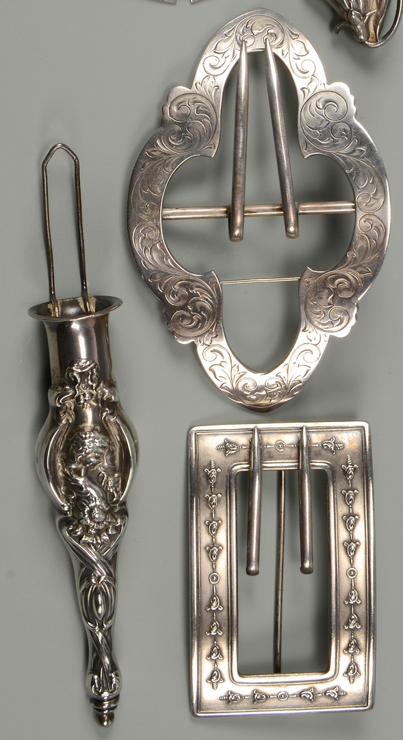 Lot 442: Art Nouveau Sterling Silver, incl Unger