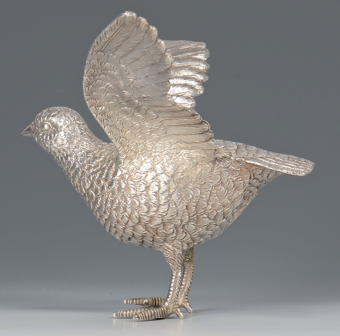 Lot 444: Sterling Silver Bird
