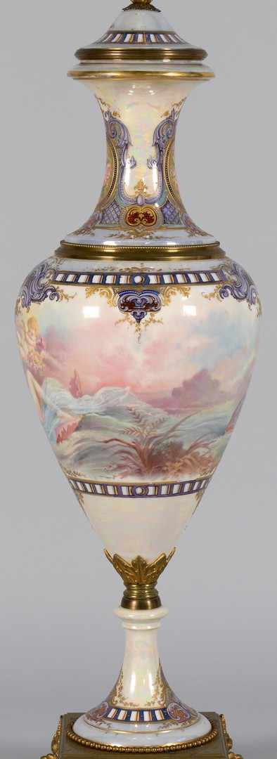 Lot 450: Sevres style Lamp, signed Collot
