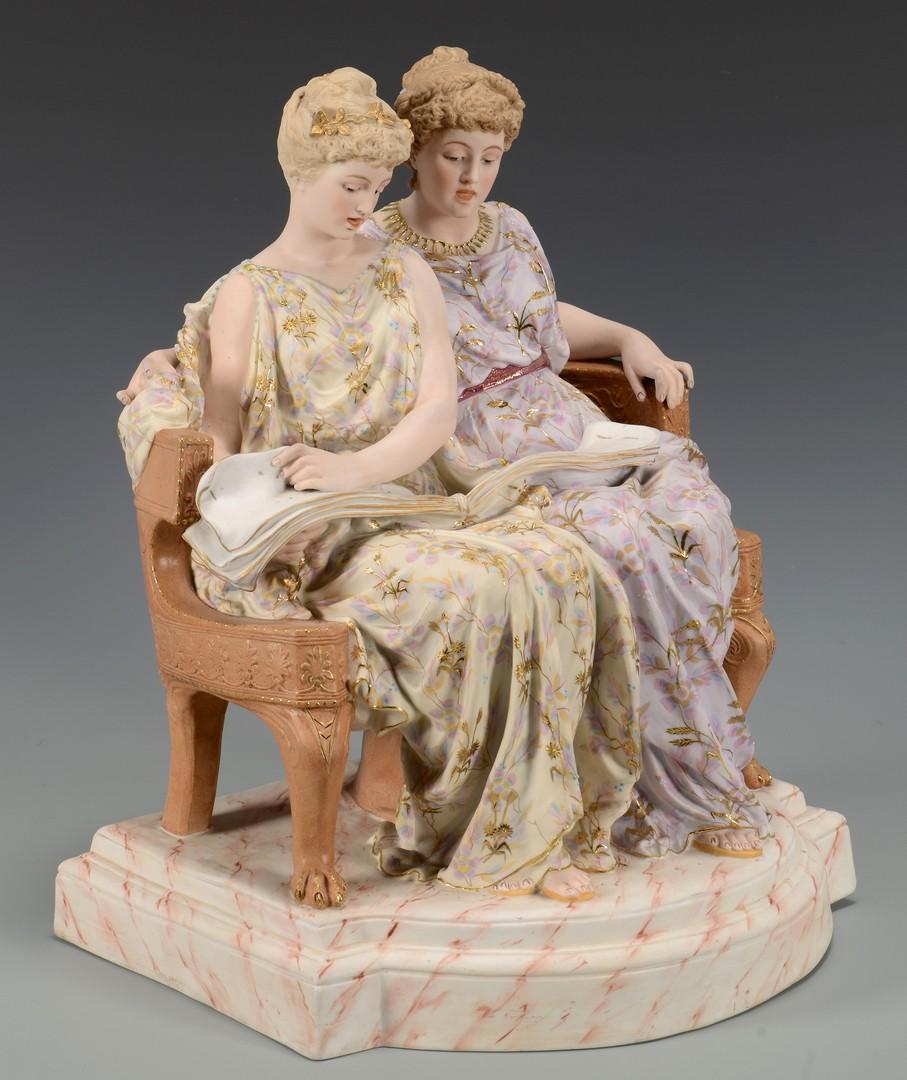 Lot 454: Lg. Rudolstadt Porcelain Grouping