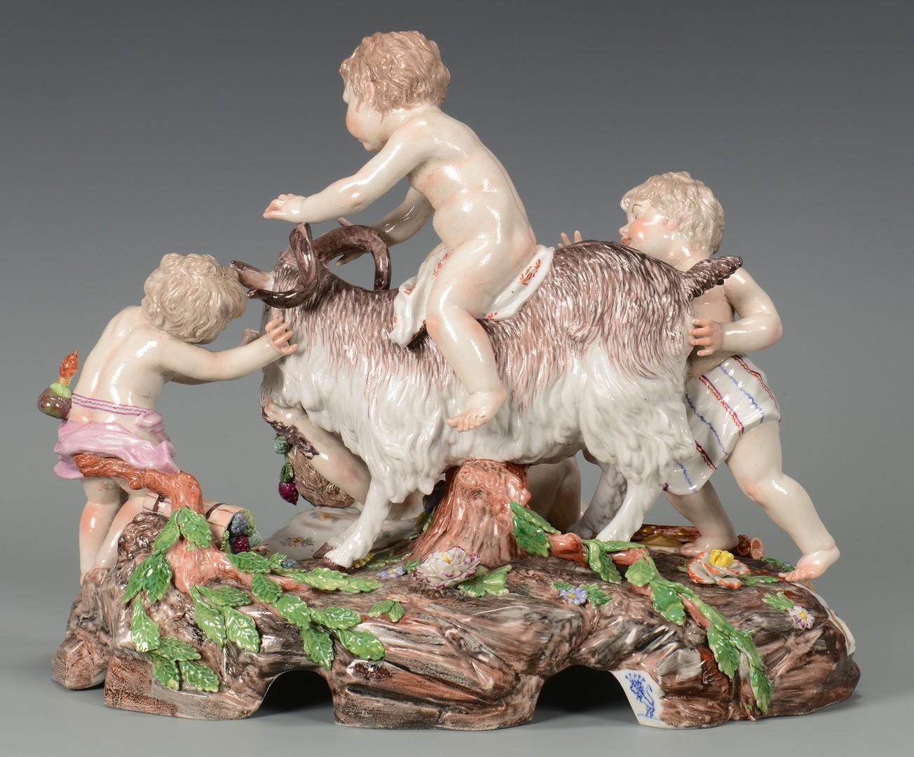 Lot 455: Frankenthal Cherubs with Ram