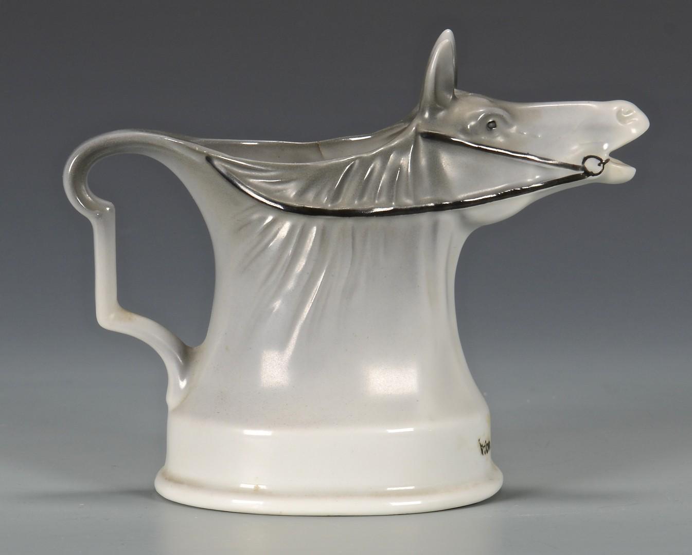 Lot 458: Royal Bayreuth Horse Creamer