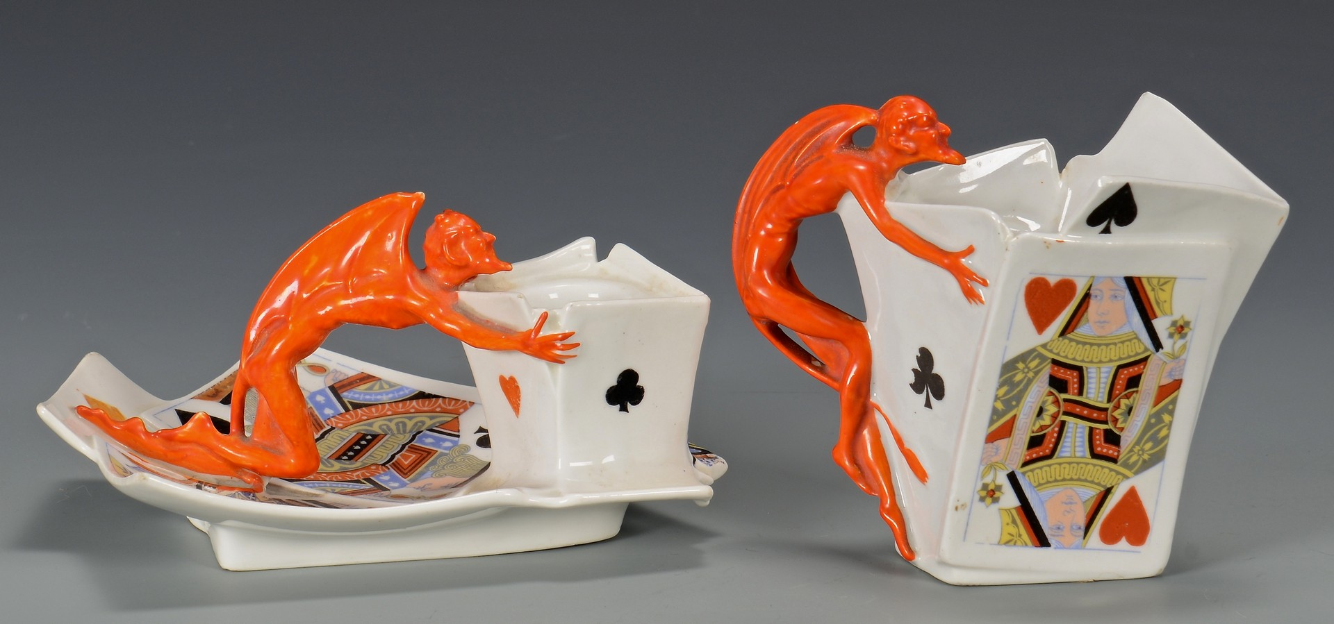 Lot 459: 4 Royal Bayreuth Devil Items