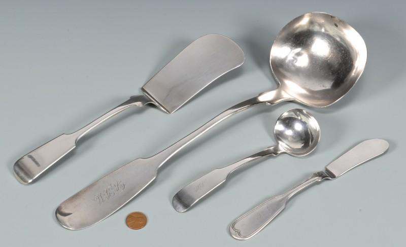 Lot 45: 4 pcs. J. Conning Silver Flatware