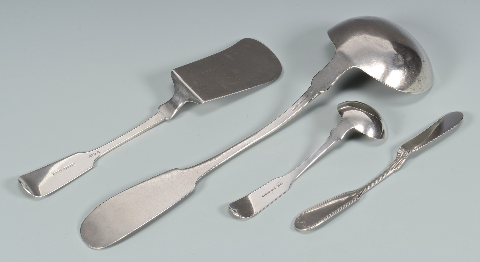 Lot 45: 4 pcs. J. Conning Silver Flatware