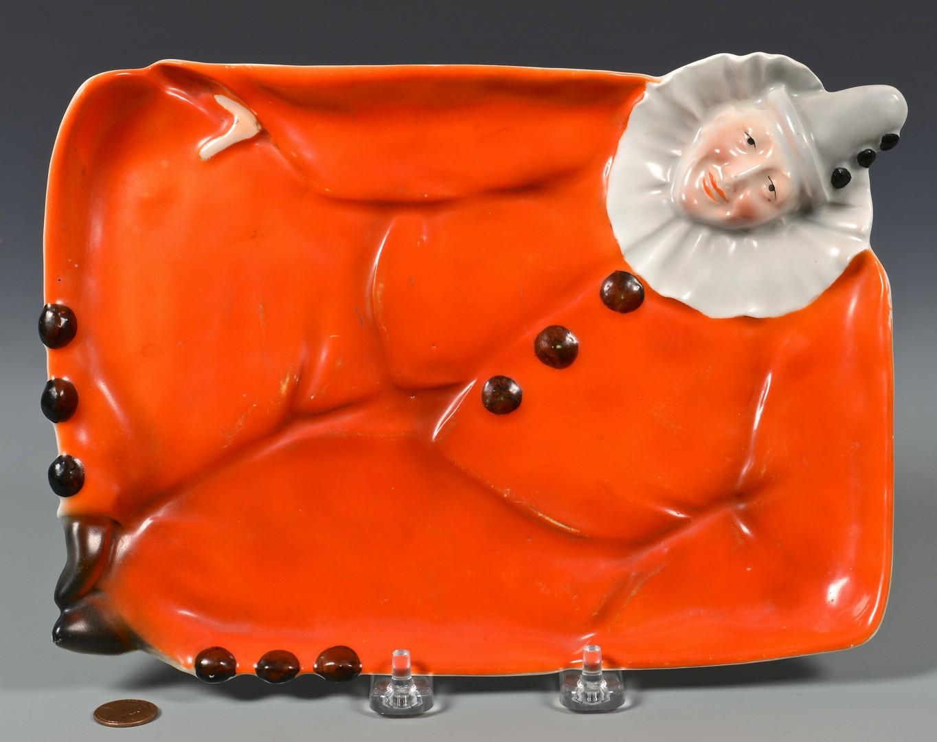 Lot 463: Royal Bayreuth Clown Dresser Tray