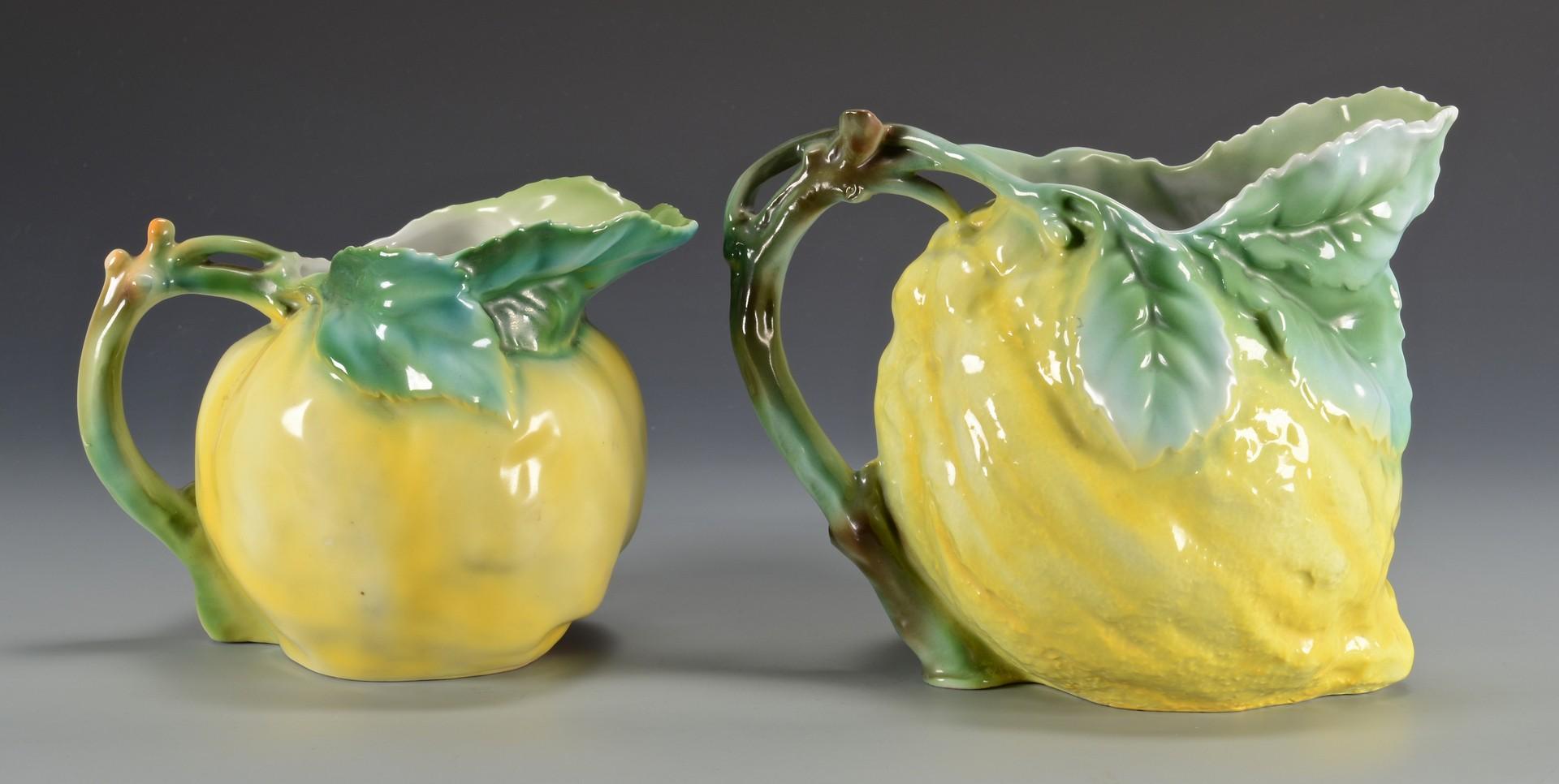 Lot 465: 2 Royal Bayreuth Fruit Pitchers