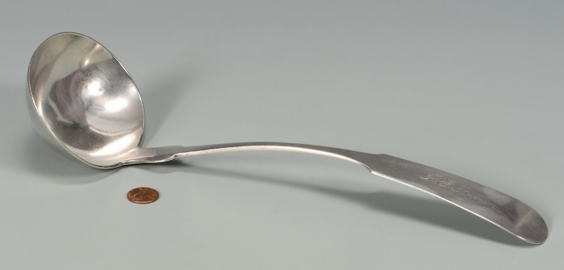 Lot 46: Georgia Coin Silver Punch Ladle