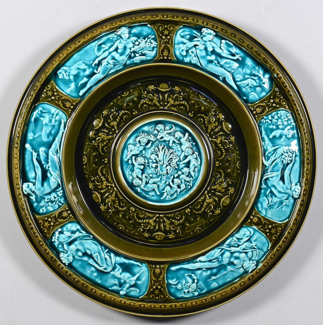 Lot 472: Signed Austrian Majolica Charger