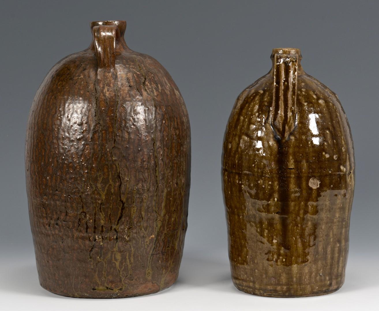 Lot 475: 2 GA Alkaline Glaze Stoneware Jugs