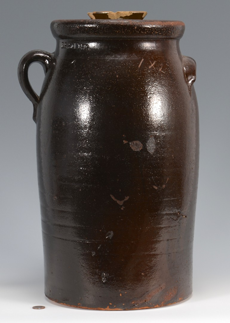 Lot 476: Georgia Stoneware Crock, B. S. Salter