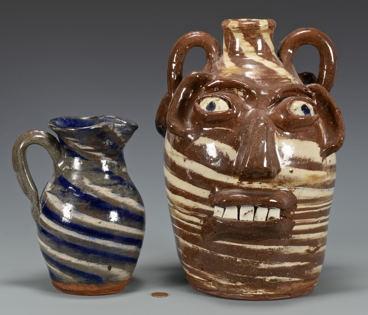 Lot 485: B. B. Craig Double Face Jug & Pitcher