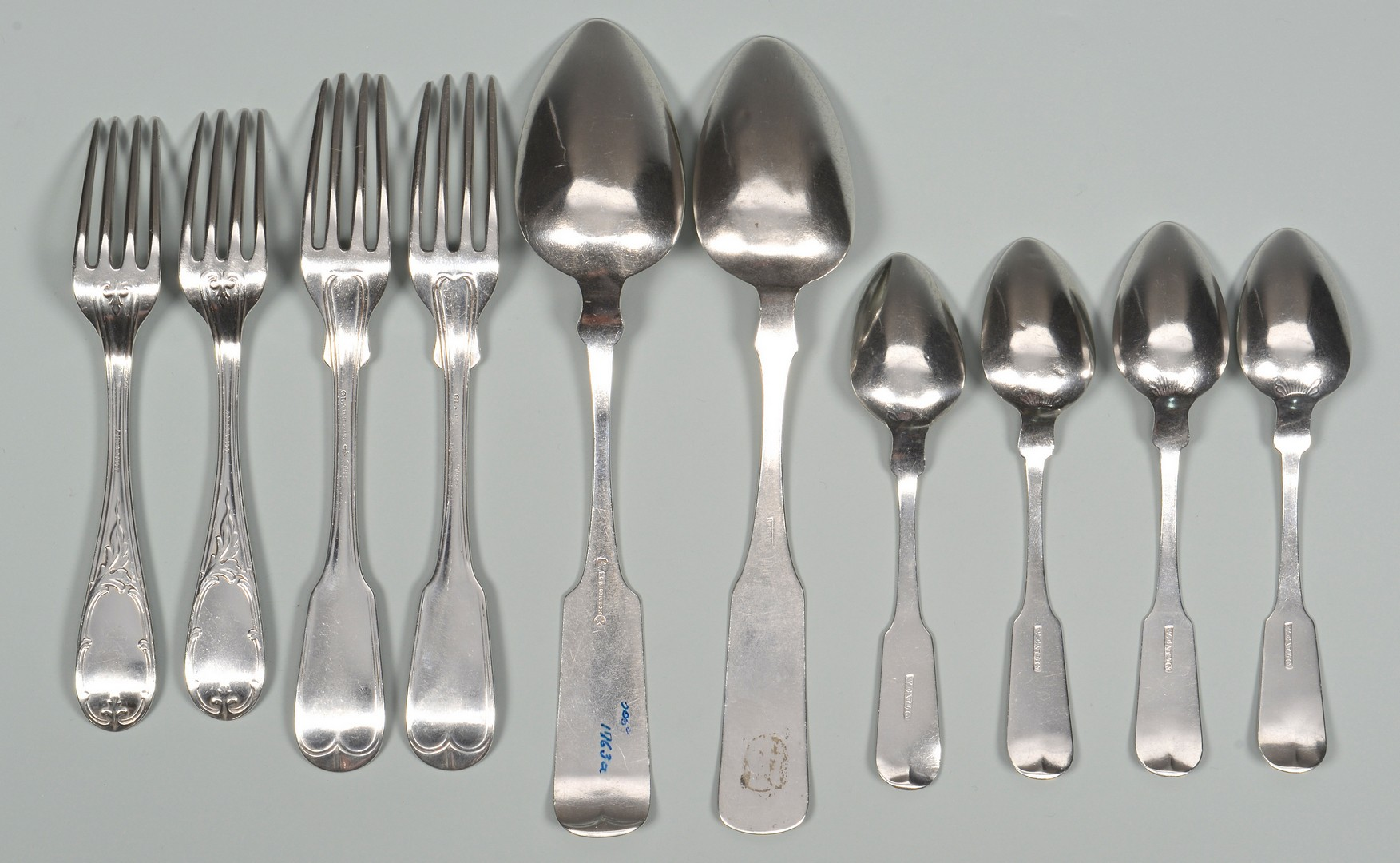 Lot 48: 10 pcs Georgia related Coin Silver Flatware