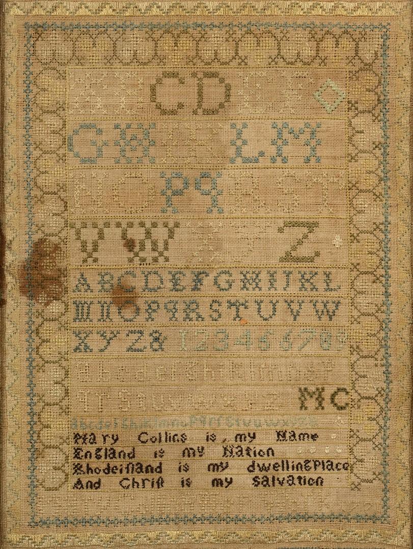 Lot 494: 1771 Rhode Island Sampler
