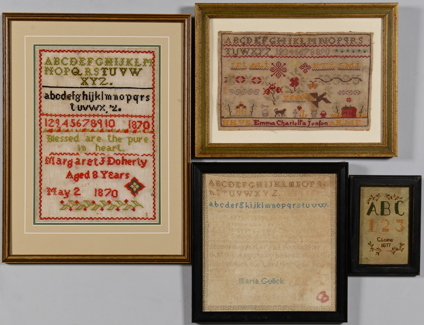 Lot 496: Grouping of 4 Samplers