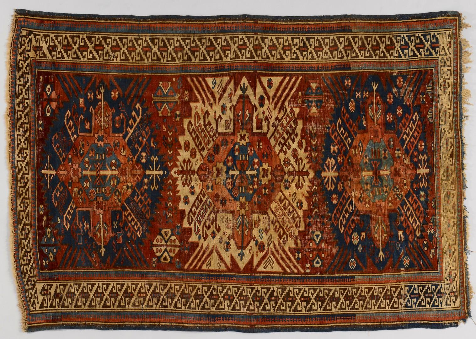 Lot 498: 2 Oriental Rugs:Tabriz and Kazak