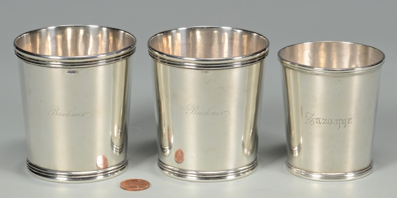 Lot 49: 3 Coin Silver Juleps – Kendrick & Kinsey