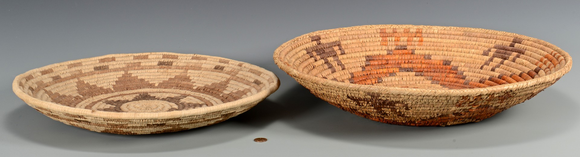 Lot 508: Hopi and Other Coiled Baskets