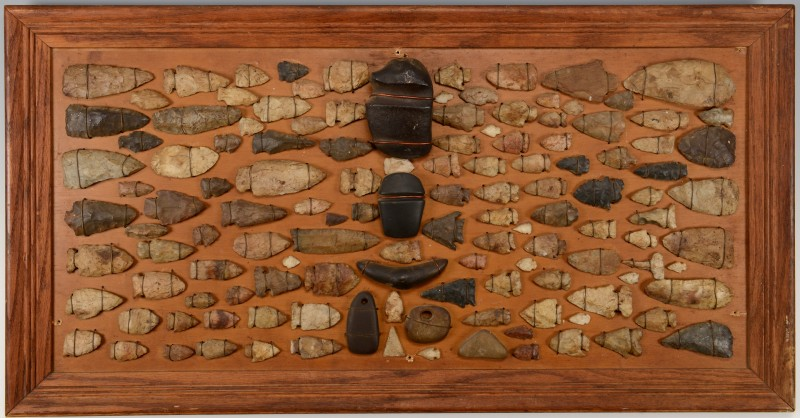 Lot 510: 129 Mounted Native American Points & Artifacts