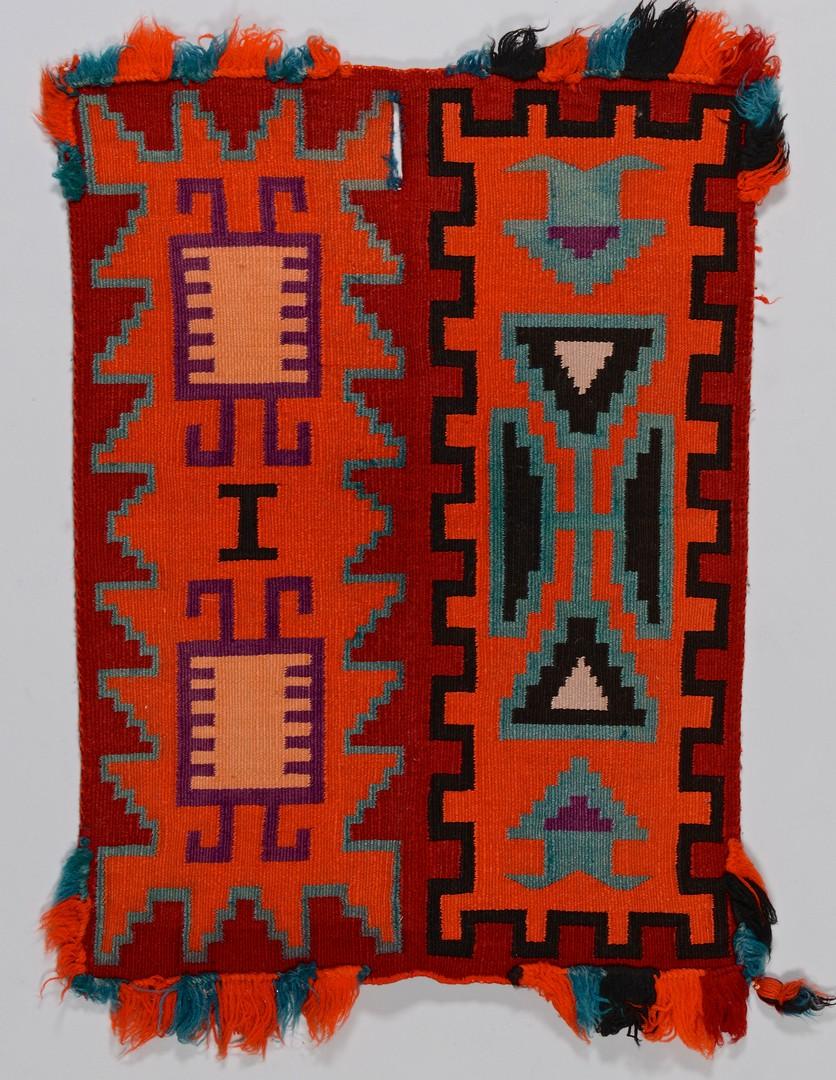 Lot 513: Navajo Germantown Child's Saddle Blanket