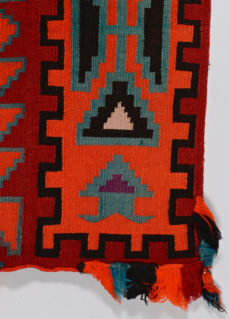 Lot 513: Navajo Germantown Child's Saddle Blanket