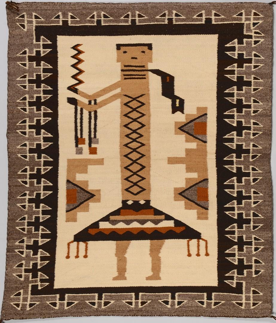 Lot 514: Navajo Single Figure Yei Rug
