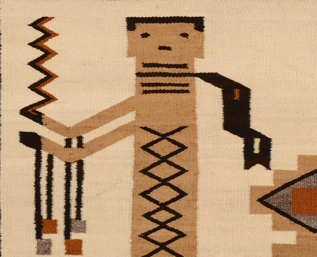 Lot 514: Navajo Single Figure Yei Rug