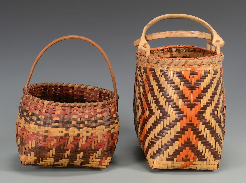 Lot 519: 2 Cherokee Rivercane Baskets