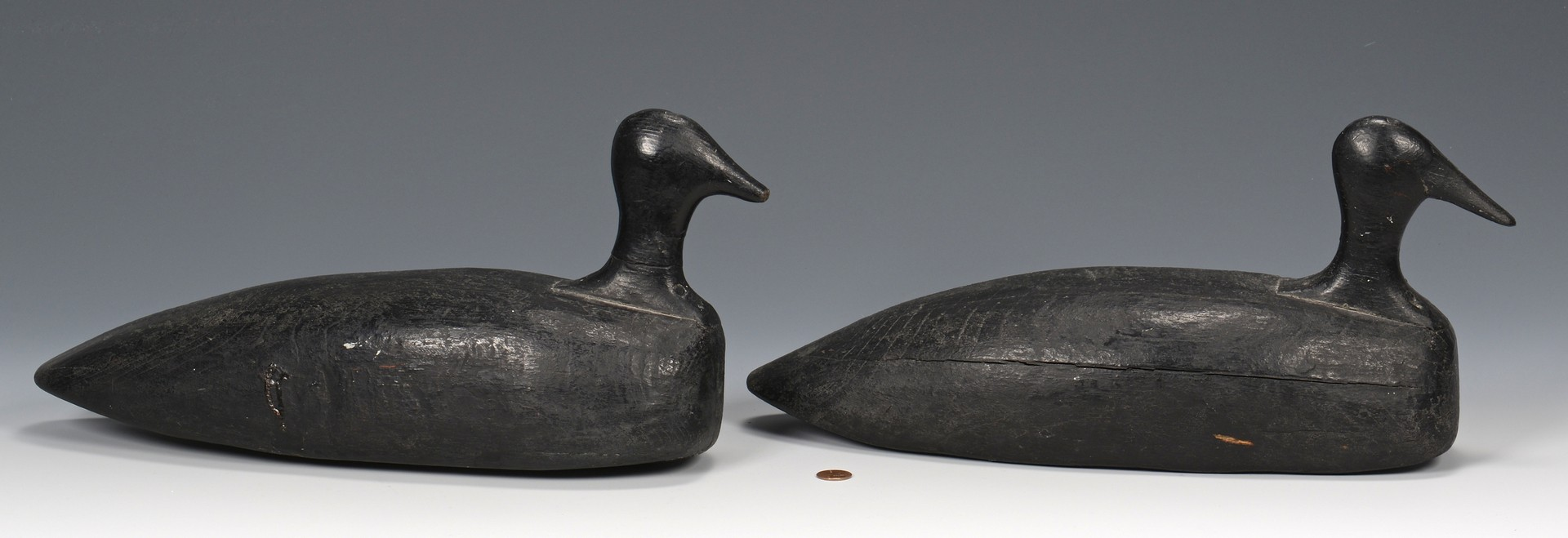 Lot 527: 2 Early Decoys & Large Basket