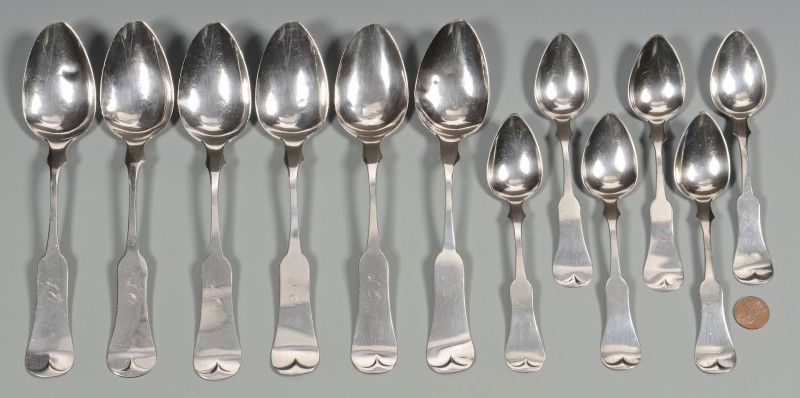Lot 52: 12 Miller Paducah KY Coin Silver Spoons