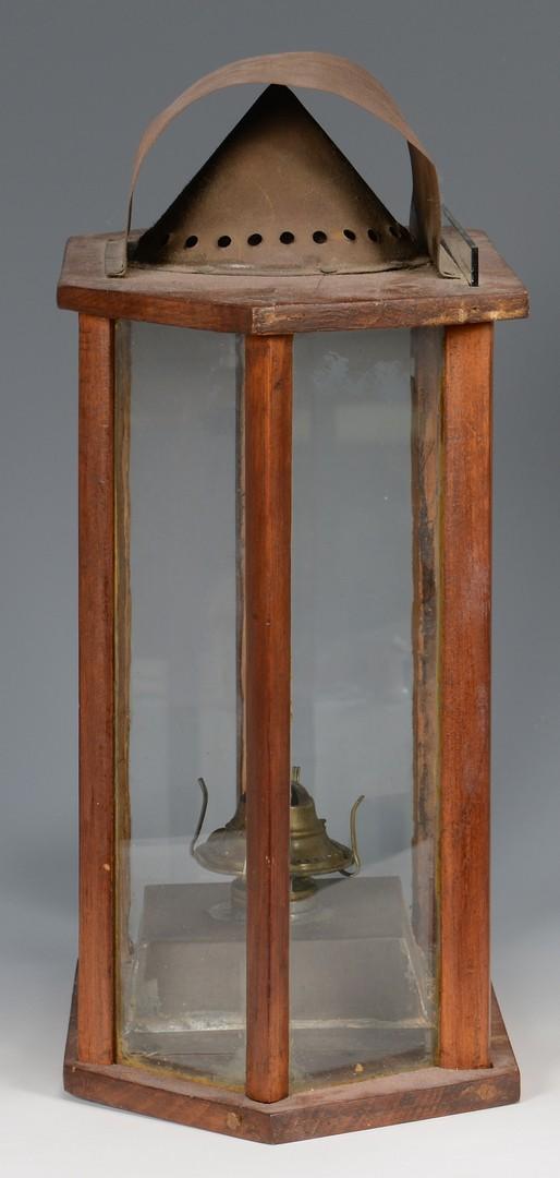 Lot 530: American Wooden Primitive Lantern