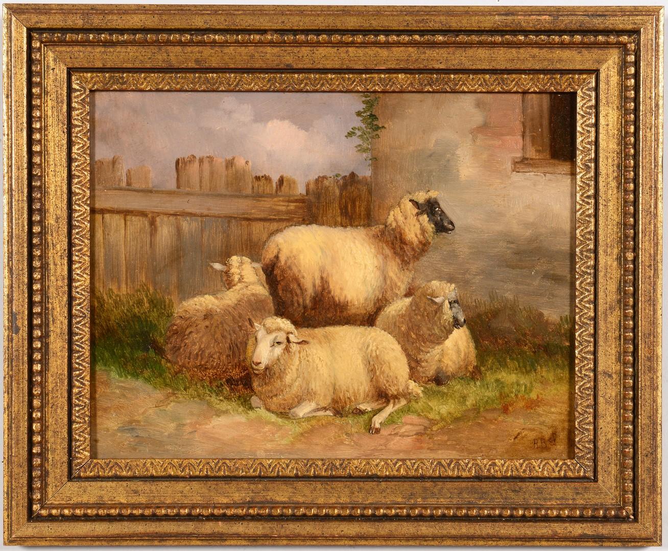 Lot 533: 2 Landscapes incl. Pastoral w/ Sheep