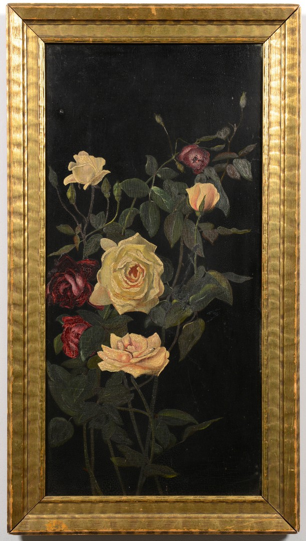Lot 534: Attrib. G.C. Lambdin floral stil life, 19th c.