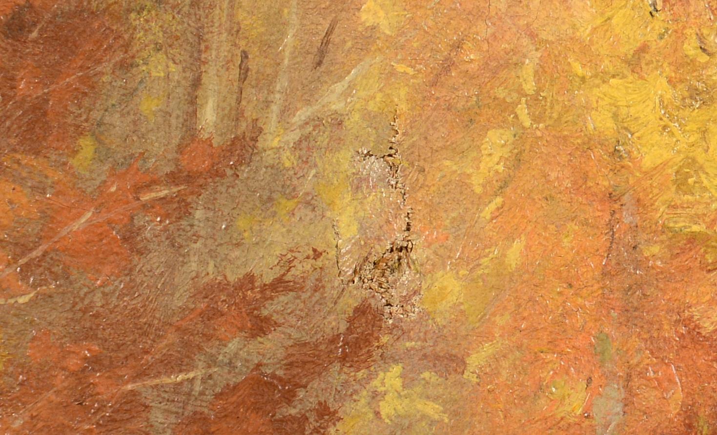 Lot 536: Thomas Hicks Autumn Landscape