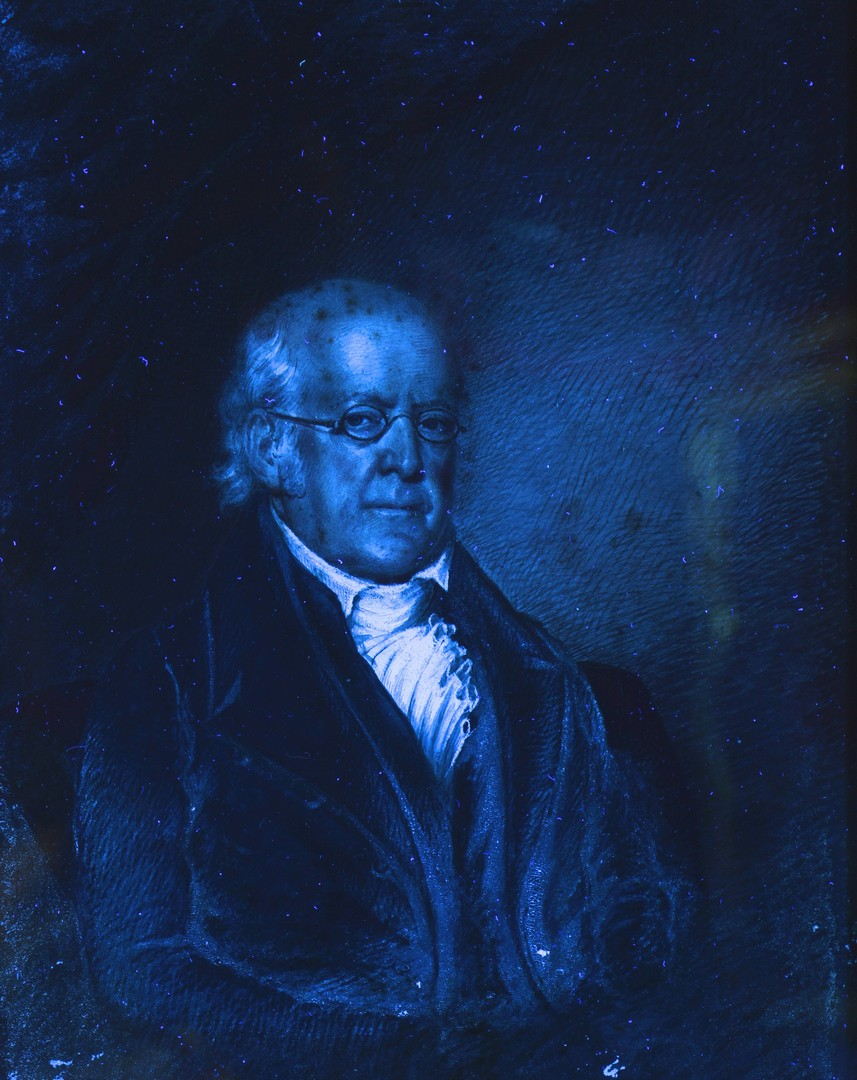 Lot 538: Portrait of an Older Gentleman, Oil on Paper