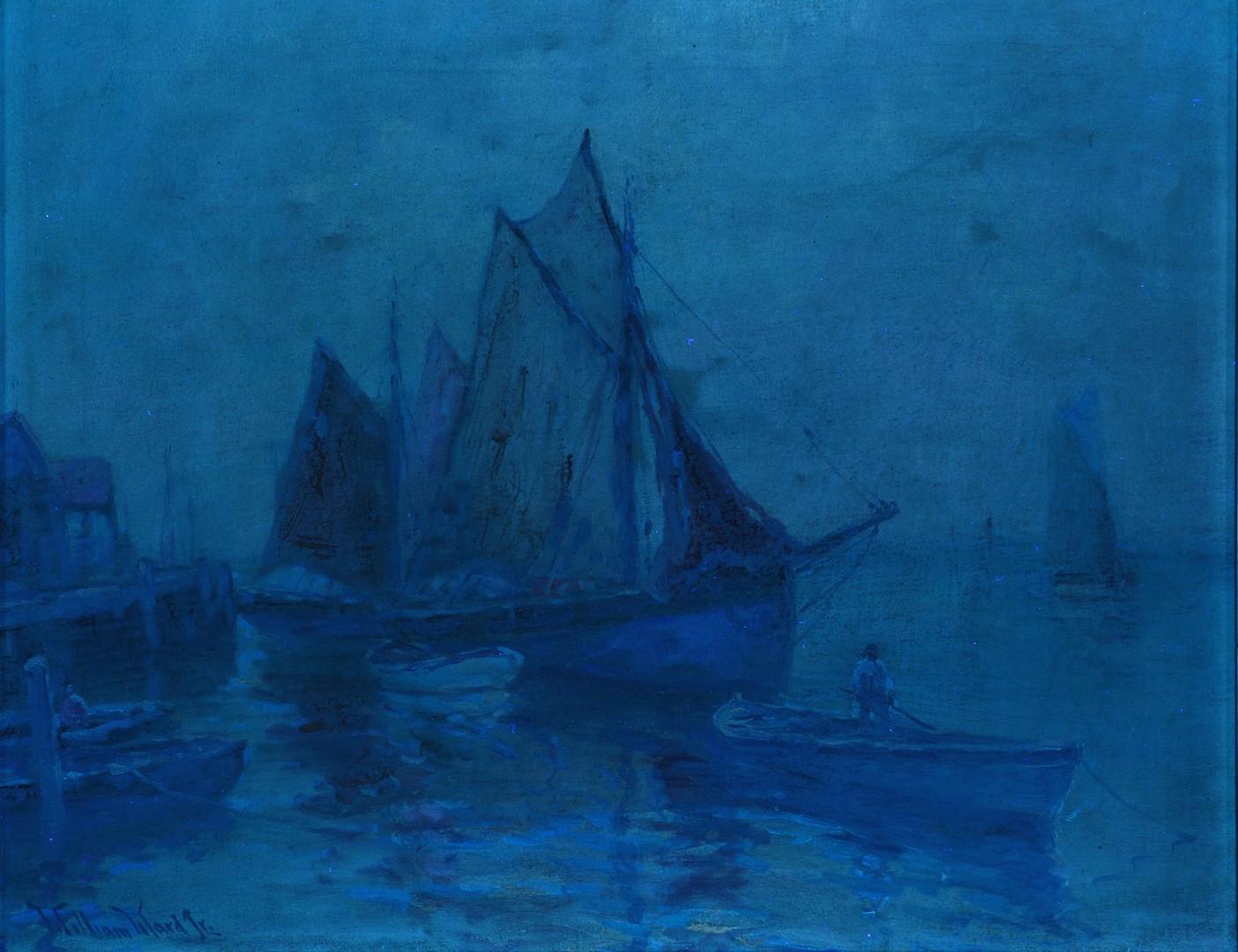 Lot 542: C. Hjalmar Amundson OOC Harbor Scene