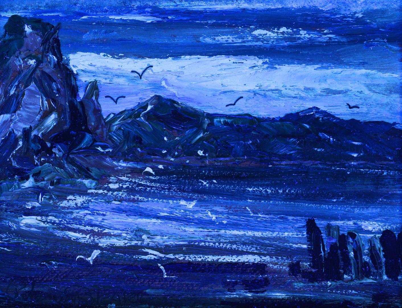 Lot 543: Peter Van Den Braken Harbor Scene